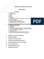 Memorandum de Planificacion de Auditoria Forense