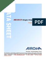 AR1019 Single Chip FM Radio