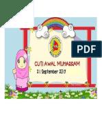 Cuti Awal Muharram 2017