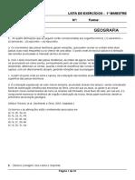 Lista de Exercícios 6ºA Photon 1ºBimestre