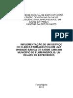 Clinica Farmaceutica Na Ubs - Implementação