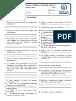 Estudo Dirigido de Ciências - 708 - Poríferos e Cnidários - 3º Trimestre