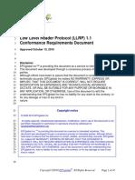 Llrp 1 1 Conformance 20101013