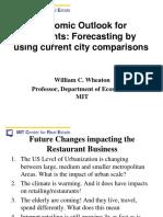 The Economic Outlook for Restaurants- Forecasting