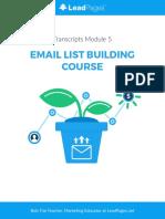 EmailListBuilding LeadPages Transcripts 05