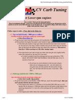 CV Carb Tuning Procedures