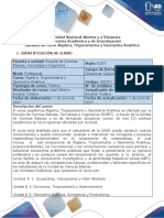 Syllabus Del Curso Algebra, Trigonometria y Geometria Analitica