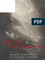 Achinstein, Sharon--Milton & Toleration