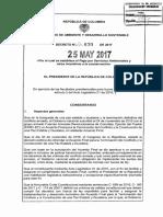 DECRETO | Decreto 870 DEL 25 de MAYO de 2017- Pago Por Servicios Ambientales