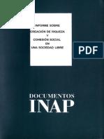 Documentos Inap, Nº 6 Informe Sobre La Creación de Riqueza y Cohesión Social en Una Socieadad Libre