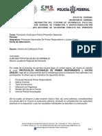 Informe Calificacion Final de Protocolos Nacionales de Primer Respondiente
