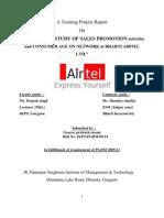 A MARKETING PROJECT REPORT ON BHARTI AIRTEL LTD. BY GAURAV SWAMI