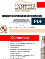 Fijación Precio Exportación 2017 Keyword Principal