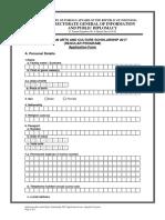Application Form Regular Program