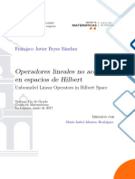 Operadores Lineales No Acotados en Espacios de Hilbert