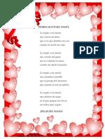 Poesia a Mama y Patria