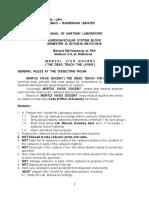 Manual of Anatomy Lab Cvs Rev 2017