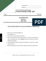 Ujian Diagnostik Matematik KERTAS 1 2017
