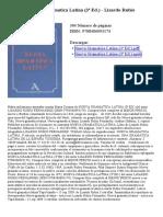 Nueva Gramatica Latina (3ª Ed)
