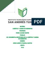 Inv Doc. de La Importancia de La Logistica y Cadena de Suministro