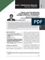 Gaceta Civil 29, Noviembre 2015. Fe Pública Registral y Falsificaciones. Propietario Violable, Tercero Inviolable