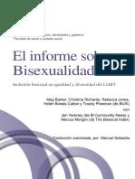 El Informe Sobre Bisexualidad - Inclusión Bisexual en Igualdad y Diversidad Del LGBT (Meg Barker Et Al.)