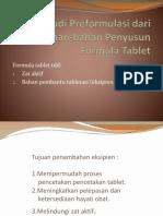Studi Preformulasi Bhn2 Penyusun for. Obat