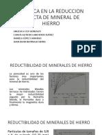 Cinetica en La Reduccion Directa de Mineral De