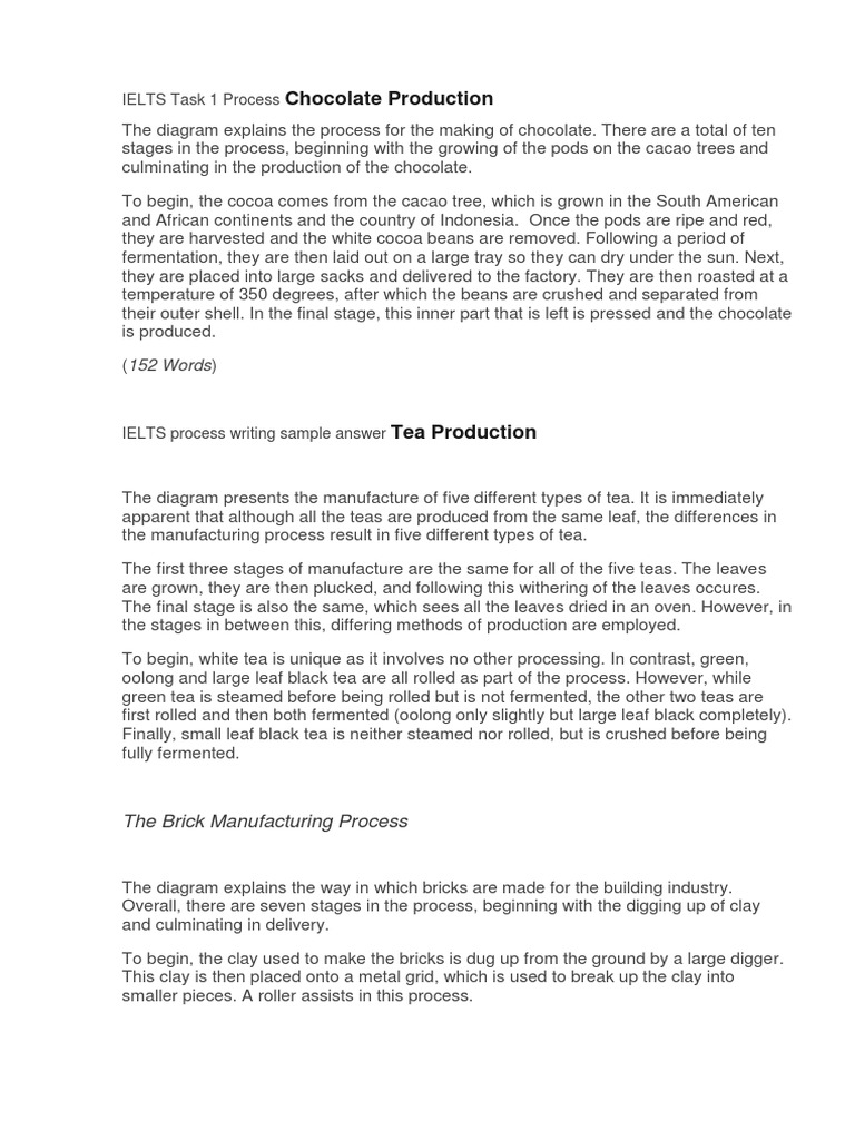 Ielts task 1 process chocolate production cocoa bean chocolate ccuart Images