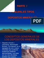 I Parte Principales Tipos de Yacimientos Mineros