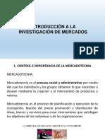Presentación 1. Introduccion a La Investigación de Mercados
