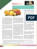 Kombinasi Probiotik Dan Vitamin C Untuk Pencegahan Infeksi Saluran Napas Atas Pada Anak