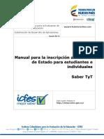 Manual de Inscripcion de Saber Pro y Saber Tyt 2017 - Estudiantes e Individuales