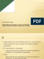 6. Instrucciones Selectivas