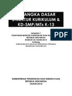 Cover Kerangka Dasar & Struktur Kur 13 SMP-MTS