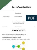 MQTT - White Paper Presentation | Smartwatch | Internet Of Things