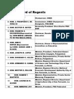 Board of Regents PSU