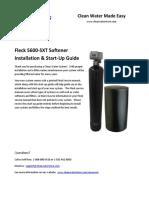 5600-SXT Softener Startup