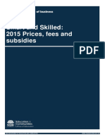 2015 Prices Fees Subsidies