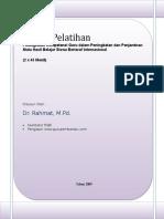 Paket Pelatihan Pendidik Penyelenggara Program RSBI 1