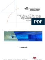 Health Check Governance Exex Summary