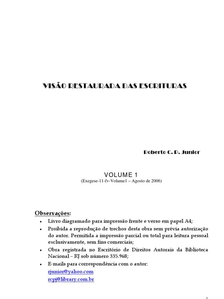 Exegese 11fv Volume1