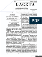 Documento de La Gaceta