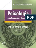 Psicologia para Concursos e Graduação - Becker, Leticia