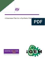 Manchester IGEM Business Plan 2013
