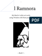 Paul Ramnora My black & white art works using Windows MS Paint program - Book I