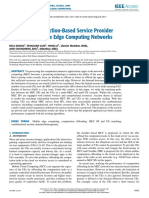 Combinational Auction Based Service Provider Selection in Mobile Edge Computing Networks