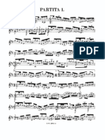 Bach- Sarabande B Min BWV1002