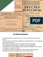 3. nomenclatura zoológica