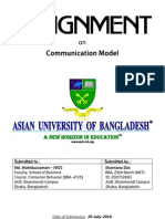 Assignment on Communication Model